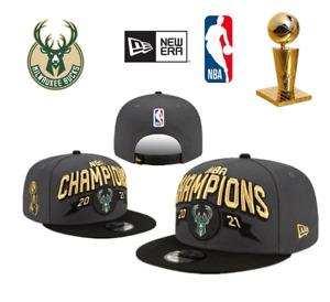 2021 NBA Champion New Era Milwaukee Bucks  Baseball Cap Adjustable Snapback Cap