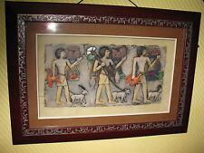 Relieve Egipto Faraón Egipcio CUADRO Atrás CRISTAL 47cm Mural