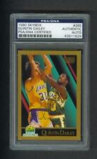 Quintin Dailey signed Sonics 1990 Skybox basketball card Psa slabbed 1961-2010