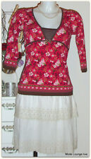 Vive Maria Cotton Blouse Red Summer of Love Shirt Size S Cotton Blouse Red Rosa