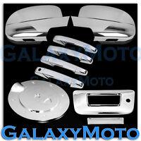 07-13 Chevy Silverado Chrome Mirror+4 Door Handle+Tailgate w.KH no CM+Gas Cover