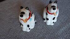 Black and White Dog Salt & Pepper Shakers