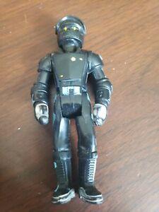 Vintage 1974 Fisher Price Adventure People Black Clawtron Robot Figure *wear*