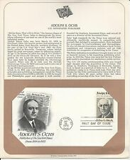 "# 1700 PUBLISHER, NY TIMES, ADOLP S. OCHS  1976 ""Art Craft"" First Day Cover"