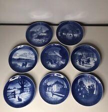 Lot Of 9 Royal Copenhagen Christmas Plates 1960s-1980s