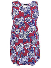 New Look Inspire burgundy floral dress or top cut out V at back generous fit