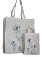 Bichon Frise Dog Adult & Child Shopping or Dog Treats Packed Lunch stc Tote Bag