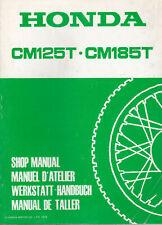 Honda CM125T & CM185T 1978 Shop Manual