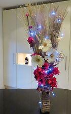 Black & Gold Artificial Display Wood Vase 20 LED Lights Conservatory Lounge