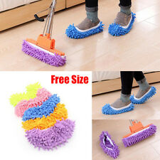House Floor Foot Sock Shoe Mop Slipper Lazy Quick Polishing Cleaning Dusting WFE