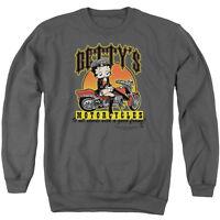 BETTY BOOP BETTY'S MOTORCYCLES Licensed Pullover Crewneck Sweatshirt SM-3XL