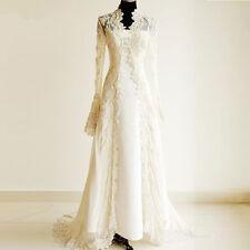 New Arrival Long Lace Wedding Jackets Long sleeve Bolero Mariage Bridal Jackets
