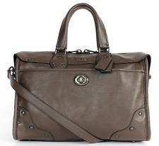 aa74a525f5ea COACH Grain Leather Rhyder Satchel Shoulder Bag F33689 Nickel Mink