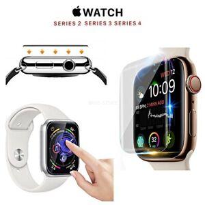 PELLICOLA VETRO TEMPERATO per Apple Watch series 5 4 3 2 GLASS 9H 38 40 42 44 mm