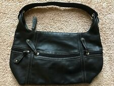 CLARKS Soft Genuine Leather Hobo Handbag Purse Black Gently Used