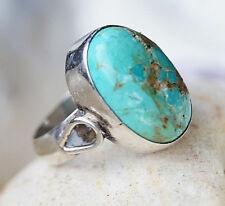 Silberring 55 Türkis Bronze Design Handarbeit Ring Silber Schlicht Elegant Hoch