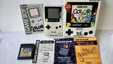 Nintendo Gameboy Color Pokemon Limited edition silver console,Game Boxed-a626-