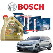 KIT TAGLIANDO FILTRI BOSCH + OLIO CASTROL VW PASSAT 2.0 TDI DAL 2014 AL 2018