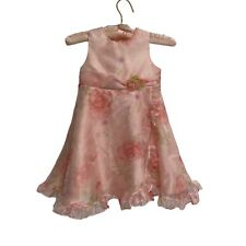 Blueberi Boulevard Sleeveless Pink Floral A- Line Dress Girl's 5 (H-1B)
