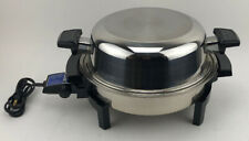 Vintage Automatic Liquid Core Electric Skillet with Lid VGC Power Cord