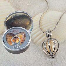 "1 Set Love Wish Pearl Necklace Set Oyster Drop Pendant 17"" JN420"