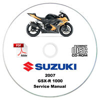 Suzuki GSX-R1000 2007 K7 Service Manual CD
