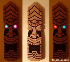 Handmade Steampunk Light Up Eyes Tiki Mask - Tiki Bar Wall Hanging Decor