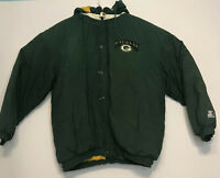 Vintage Starter Jacket Men's Sz XL-XXL NFL Green Bay Packers Coat Puffer Hooded