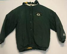 Vintage Starter Jacket Sz XL-XXL NFL Green Bay Packers Coat Winter Puffer Hooded