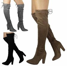 Zip Party Knee High Boots Faux Suede Shoes for Women