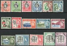JAMAICA-1956-58 Set to £1 Sg 159-174 FINE USED V43952