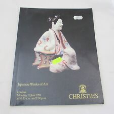 Christie's Auction Catalogue - Japanese Works of Art 1991