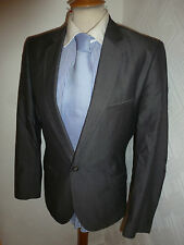 MENS TED BAKER LONDON GREY COTTON SUMMER FALL SUIT JACKET 36 R WAIST 34 LEG 31