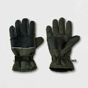 Men's Ski Glove Gloves - Goodfellow & Co Olive (Green)/Black XL