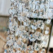"3 PCs- 20"" Clear Acrylic Crystal Garland Strand Chain Hanging Diamond Bead"