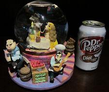 RARE Disney Lady and the Tramp Spaghetti Love Scene Romantic Snowglobe Music Box