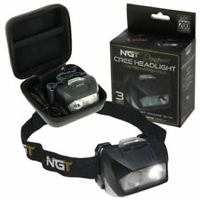 NGT DYNAMIC NEW HEAD TOURCH HEADLAMP FISHING CREE LIGHT - USB 200 LUMENS + CASE