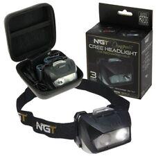 NGT Dynamic Head Torch Headlamp Carp Fishing CREE Light USB 200 Lumens Case