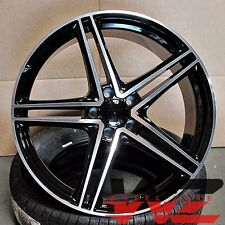 "20"" Mercedes Black Machined Wheels Fits S Class S65 S500 S550 CL550 E Class E300"