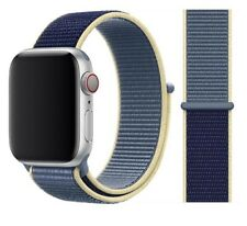 Apple Watch Series 5 44mm Space Gray Titanium Case with Alaskan Blue Sport Loop