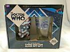 New Bif Bang Pow! BBC Doctor Who Anniversary Third Doctor 16 oz. Glass Set of 2