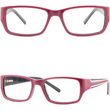 Rosa Damen Brille Brillengestell Kunststoff Acetat Eckig Fassung Federscharnier