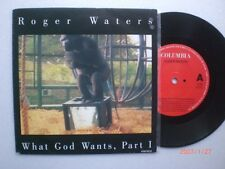 """ROGER WATERS Pink Floyd 7"""" Single WHAT GOD WANTS, Part I COLUMBIA Label HOLLAND"""