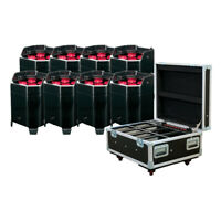 American DJ ELEMENT HEX FC PAK (8) RGBAW+UV Wireless DMX Wash Lights+Charge Case