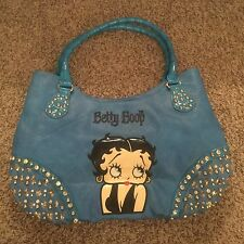 LOT 2 WOMENS BLACK and BLUE  BETTY BOOP PURSES HAND BAG TOTE!
