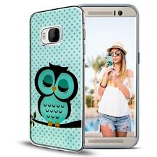 Handy Hülle HTC One M9 Cover Case Schutz Tasche Motiv Slim TPU Silikon