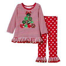 NWT Girls 2T BONNIE JEAN Christmas Xmas Gem Tree Top & Pants Set