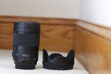 New listing Mint Sigma 40mm f1.4 Dg Hsm Art Lens for Canon Ef