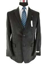 Pronto Uomo Sport Coat 2 Button Jacket Charcoal Gray Cotton Corduroy Mens 40R