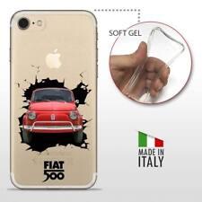 iPhone 7 TPU CASE COVER PROTETTIVA GEL TRASPARENTE VINTAGE 500 Wall Crash